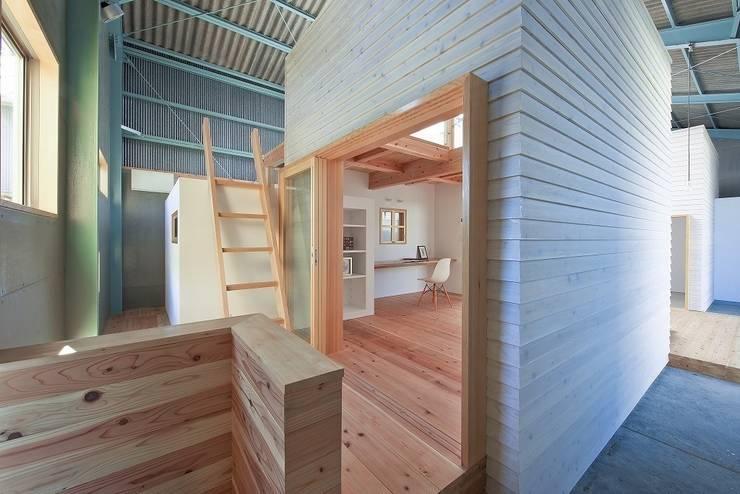オフィス&アトリエ: アトリエセッテン一級建築士事務所が手掛けたオフィススペース&店です。,モダン