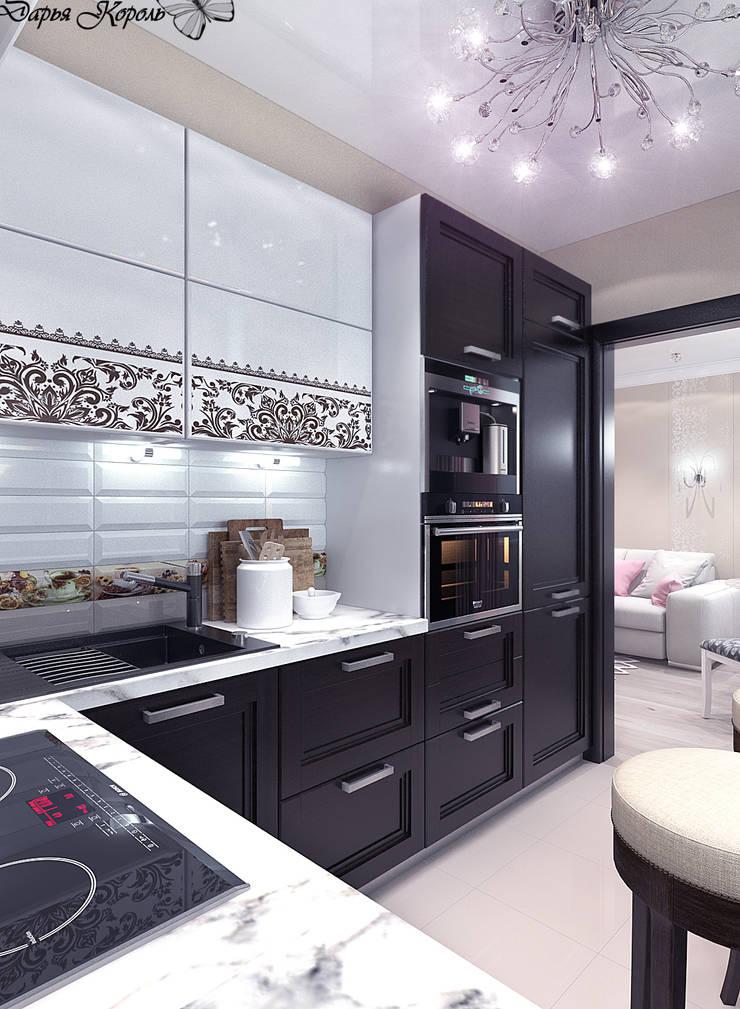 Перепланировка в 3х комнатной панельной чешке: Кухни в . Автор – Your royal design