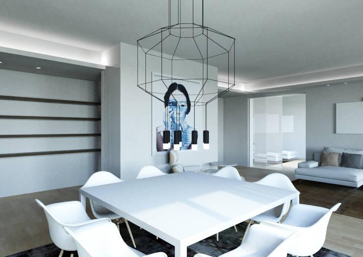 Milano 2 – Residenza Orione: Soggiorno in stile  di Architetto ANTONIO ZARDONI