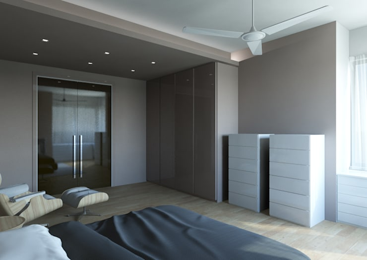 Milano 2 – Residenza Orione: Camera da letto in stile  di Architetto ANTONIO ZARDONI