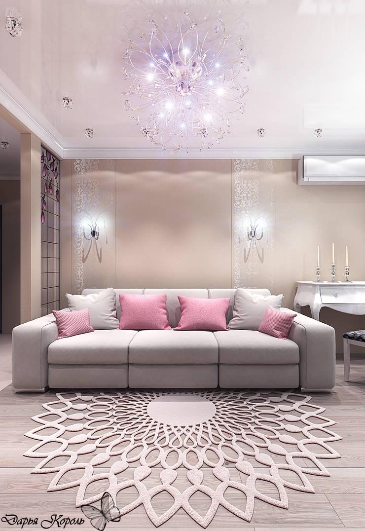 Перепланировка в 3х комнатной панельной чешке: Гостиная в . Автор – Your royal design
