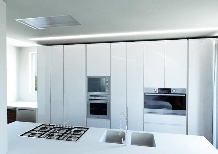 Attico su due livelli a Desio: Cucina in stile in stile Moderno di Architetto ANTONIO ZARDONI