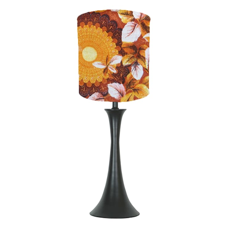 Orange vintage lampshade: classic  by bymarie, Classic