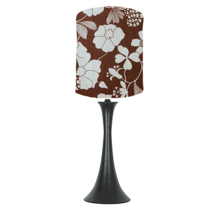 Brown floral lampshade: classic  by bymarie, Classic