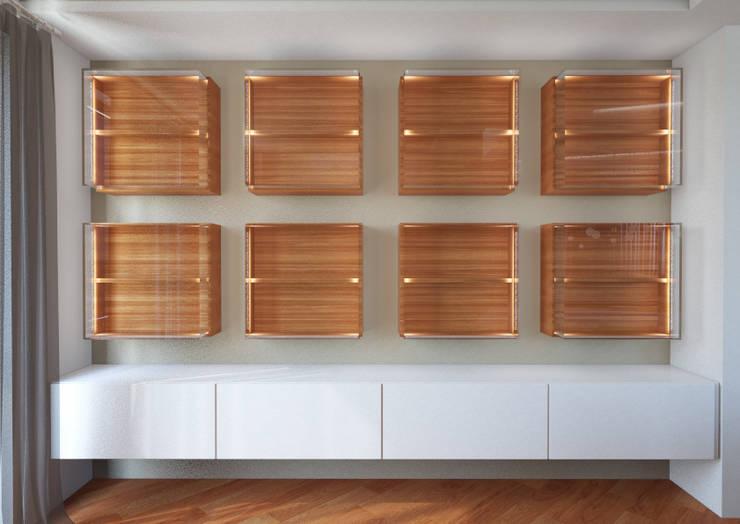 Attico su due livelli a Desio: Soggiorno in stile in stile Moderno di Architetto ANTONIO ZARDONI