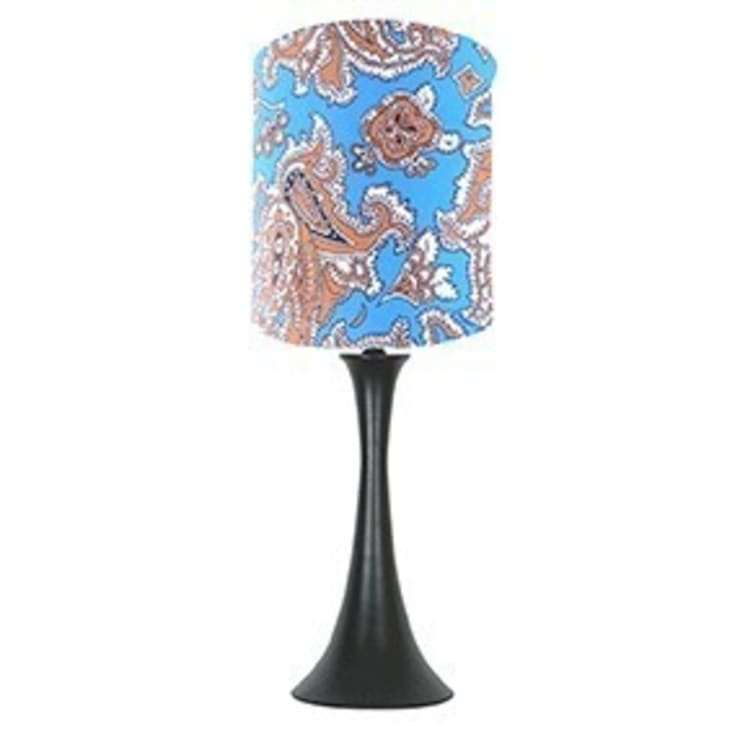 Blue paisley lampshade: classic  by bymarie, Classic