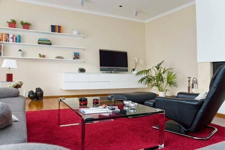 modern Living room by schrankwerk.de