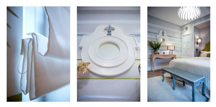 """Круглое зеркало """"Сигнас"""": Спальная комната  в . Автор – IFdecor"""