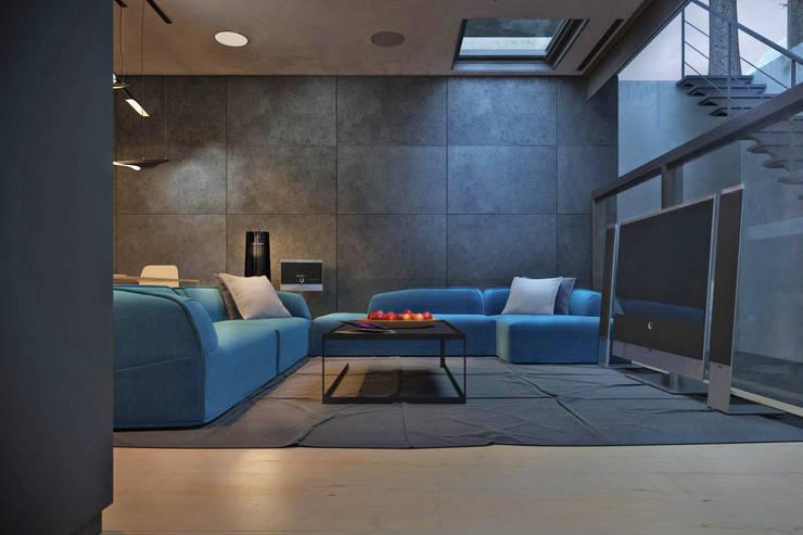 chair house: Гостиная в . Автор – IGOR SIROTOV ARCHITECTS