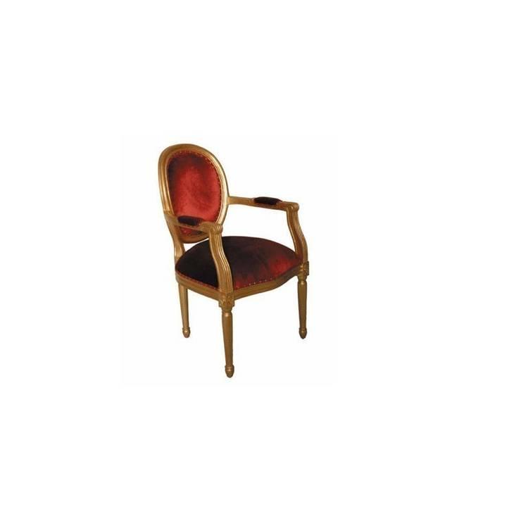 Www Deco Prive Com fauteuil médaillon cabriolet velours rouge et bois dorédeco