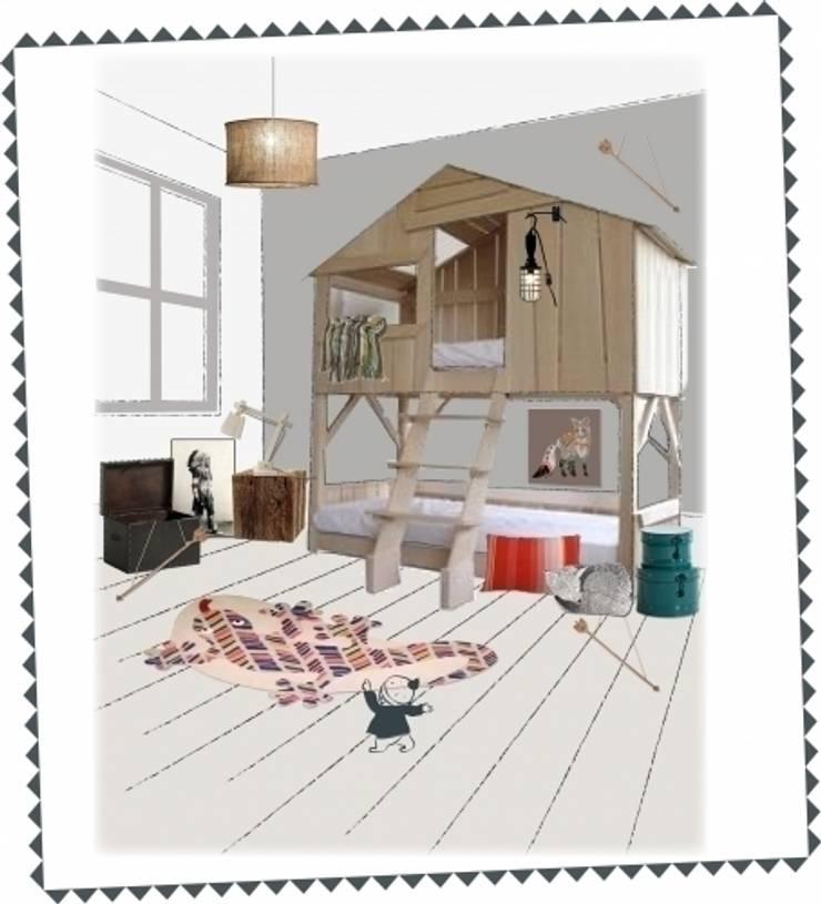 Pokój w stylu indiańskim: styl , w kategorii Pokój dziecięcy zaprojektowany przez Żyrafy z Szafy