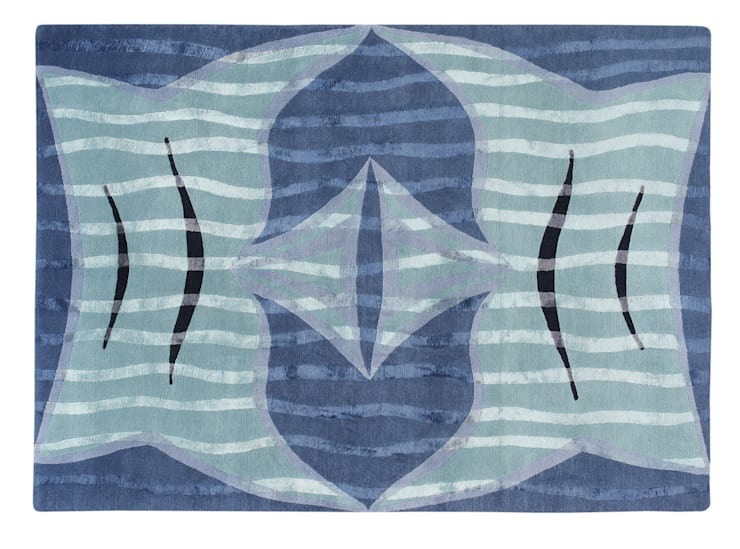 FISH TAILS hand knotted wool & silk rug from the 2013 DESIGNS FROM THE DEEP collection : modern  by Deirdre Dyson LLP, Modern