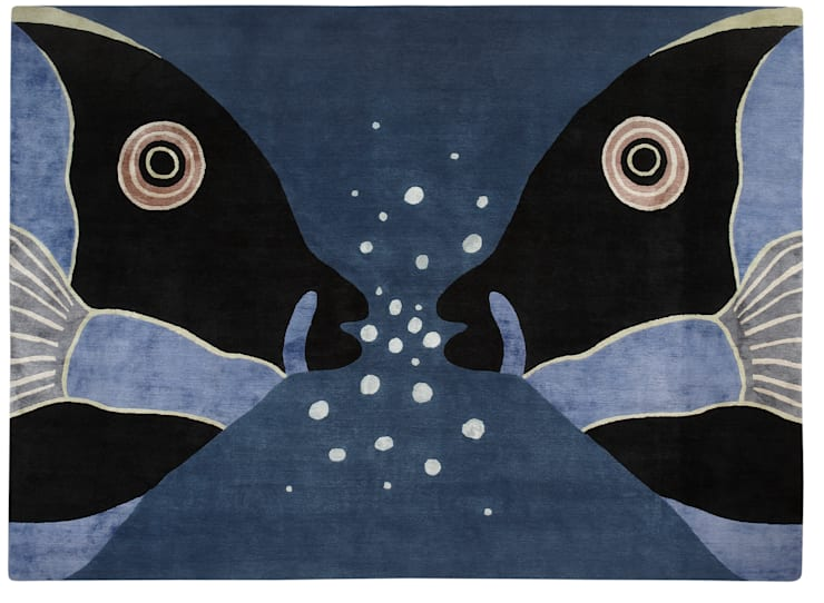 PARROT FISH hand knotted wool & silk rug from the 2013 DESIGNS FROM THE DEEP collection : modern  by Deirdre Dyson LLP, Modern