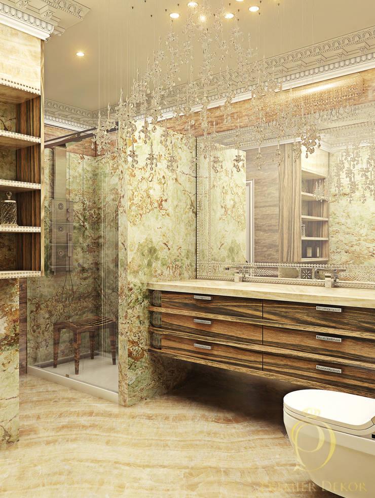 Белое золото: Ванные комнаты в . Автор – Premier Dekor