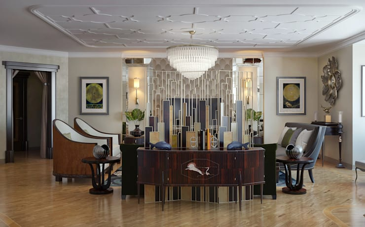 Гостиная в стиле Ар-деко : Гостиная в . Автор – Sweet Home Design
