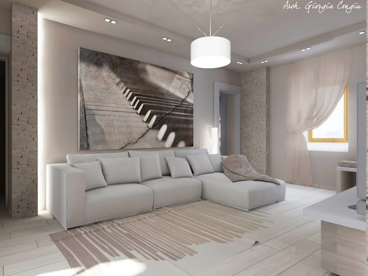 Livings de estilo  por Arch. Giorgia Congiu