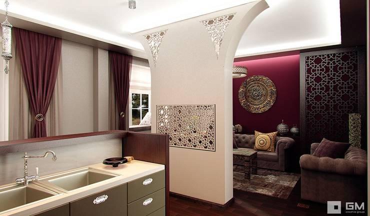 Интерьер дома в восточном стиле : Гостиная в . Автор – GM-interior