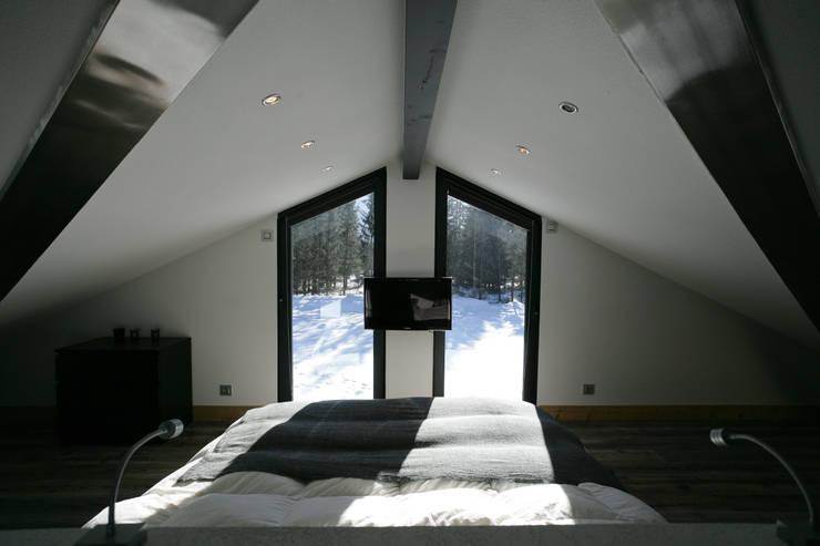 Projekty,  Sypialnia zaprojektowane przez Chevallier Architectes