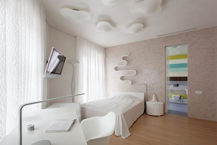 Пентхаус на Арбате: Спальни в . Автор – VOX Architects