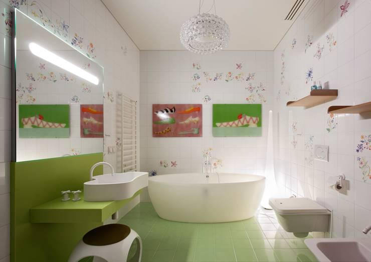 Пентхаус на Арбате: Ванные комнаты в . Автор – VOX Architects