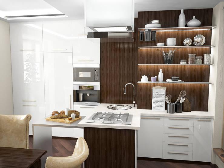 Восточные нотки: Кухни в . Автор – Проектное бюро O.Diordi