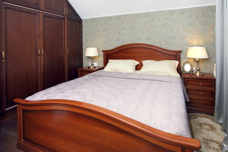 Частный дом в г. Колпино: Спальни в . Автор – Ivory Studio