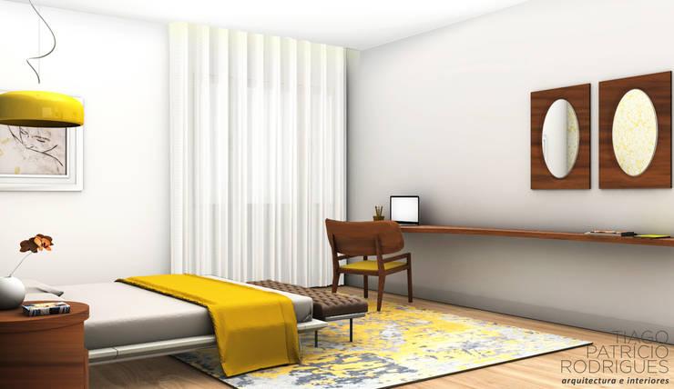 Apartamento Lumiar_Reabilitação Arquitectura + Design Interiores: Quartos modernos por Tiago Patricio Rodrigues, Arquitectura e Interiores