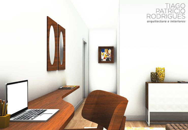 Apartamento Lumiar_Reabilitação Arquitectura + Design Interiores: Quartos  por Tiago Patricio Rodrigues, Arquitectura e Interiores