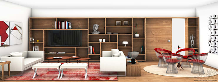 Tiago Patricio Rodrigues, Arquitectura e Interioresが手掛けたリビング