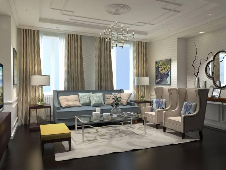 Ruang Keluarga oleh Ivory Studio, Klasik