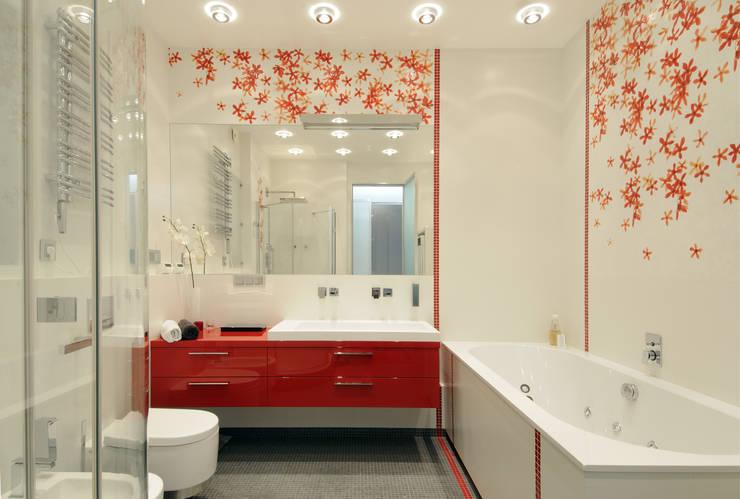 Квартира на ул. Авиаконструктора Микояна в Москве: Ванные комнаты в . Автор – Архитектурное бюро 'Sky-lines', Эклектичный