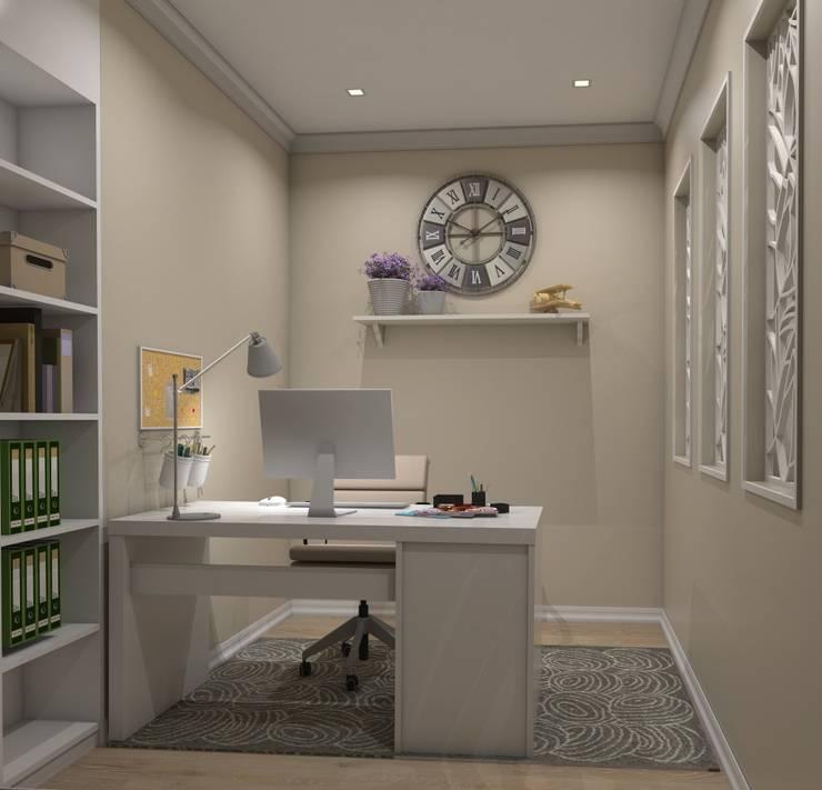 Ruang Kerja oleh Ivory Studio, Eklektik
