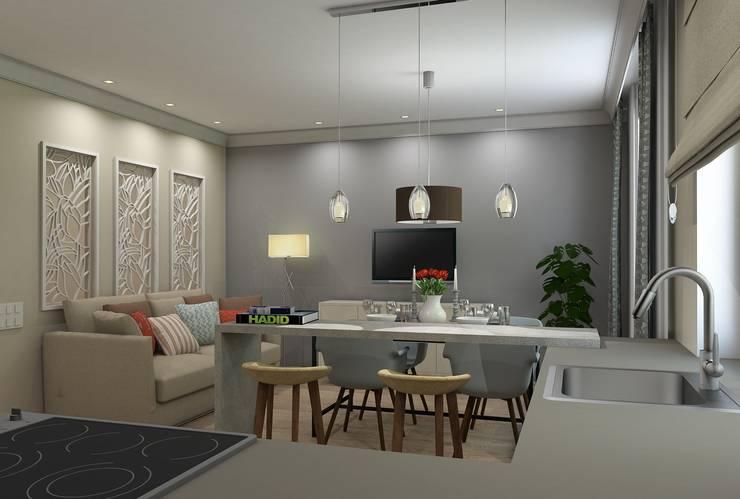 Ruang Keluarga oleh Ivory Studio, Eklektik