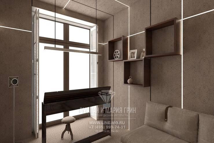 Дизайн кабинета в стиле лофт: Рабочие кабинеты в . Автор – Студия дизайна интерьера Руслана и Марии Грин