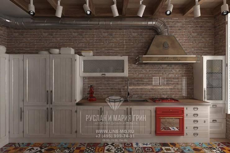 Дизайн кухни в стиле лофт: Кухни в . Автор – Студия дизайна интерьера Руслана и Марии Грин
