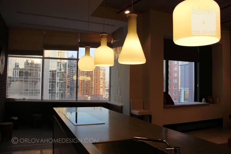 Projekty,  Kuchnia zaprojektowane przez Orlova Home Design, Industrialny