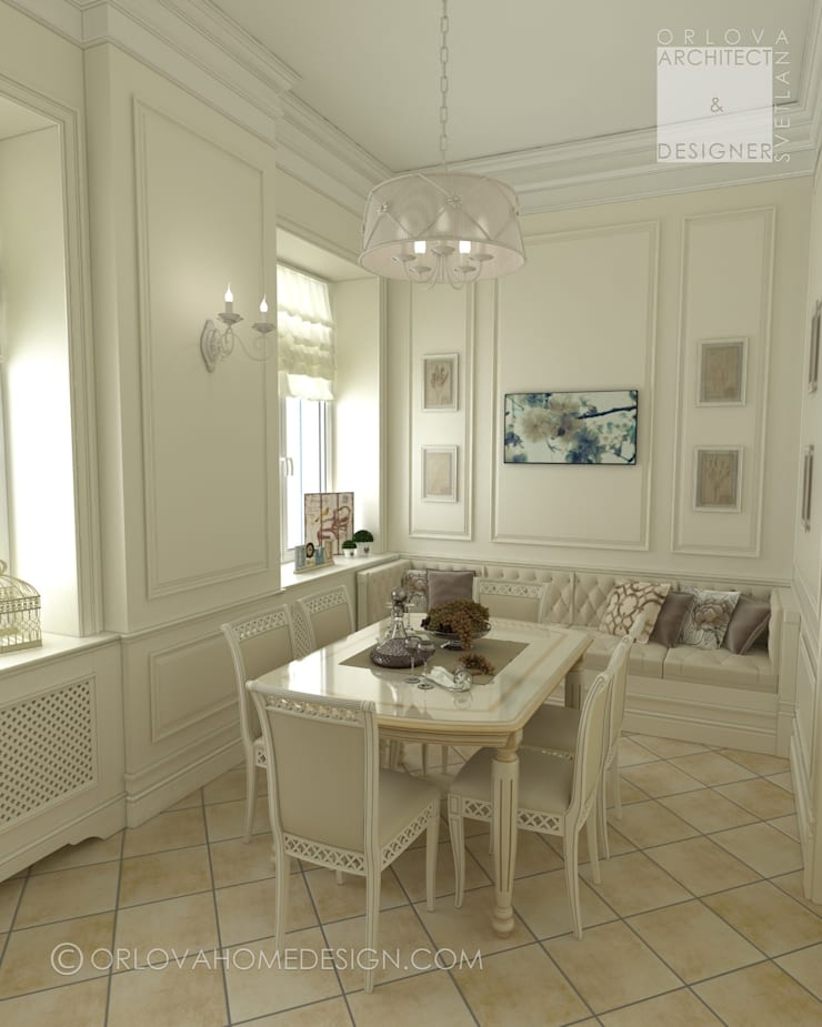 Квартира в Санкт-Петербурге: Столовые комнаты в . Автор – Orlova Home Design