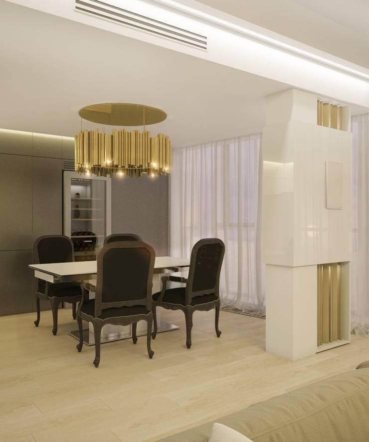 Двухуровневая квартира в жк Антаресе (Екатеринбург): Гостиная в . Автор – E_interior