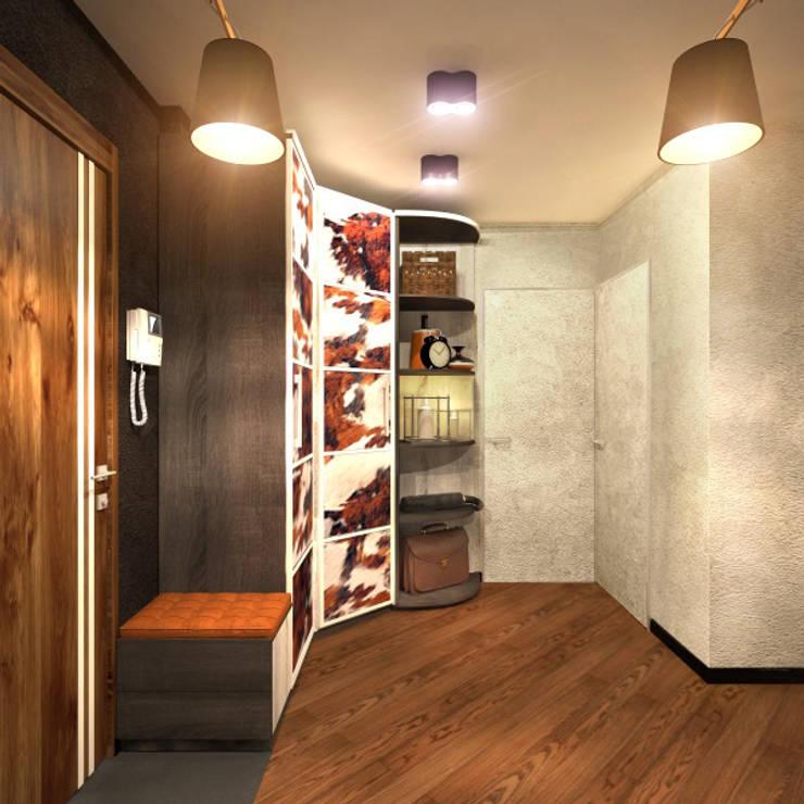 Прихожая 2: Коридор и прихожая в . Автор – Inna Katyrina & 'A-LITTLE-GREEN' studio interiors