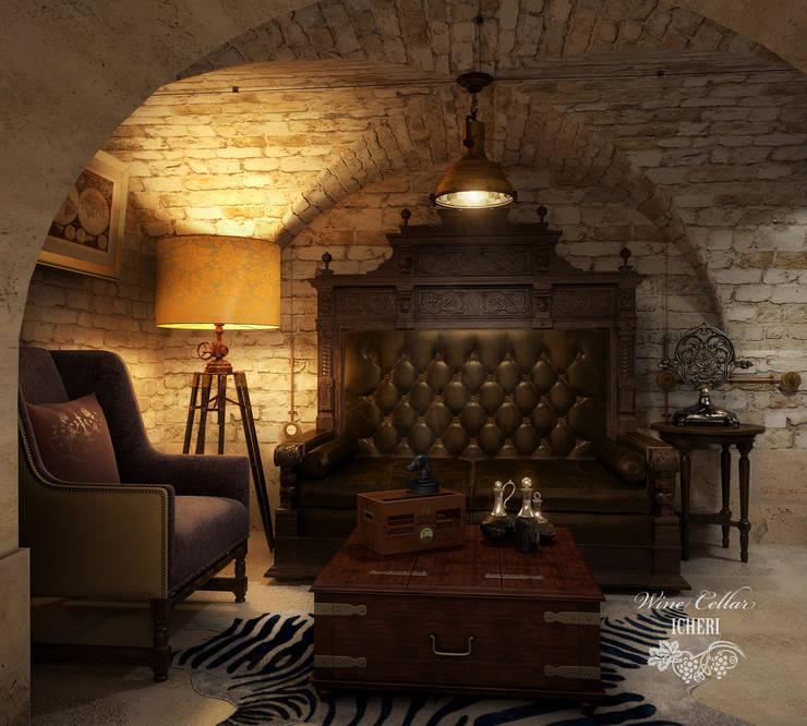 Винный погреб в старинном особняке: Винные погребы в . Автор – Sweet Home Design, Средиземноморский