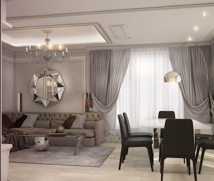 Private apartment in Moscow : Гостиная в . Автор – E_interior