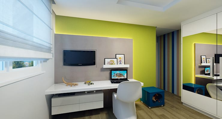 Nursery/kid's room by Eliegi Ambrosi Arquitetura e Design de Interiores,