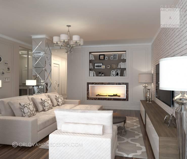 Квартира в Москве: Гостиная в . Автор – Orlova Home Design