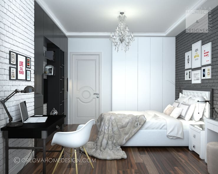 Квартира в Москве: Спальни в . Автор – Orlova Home Design