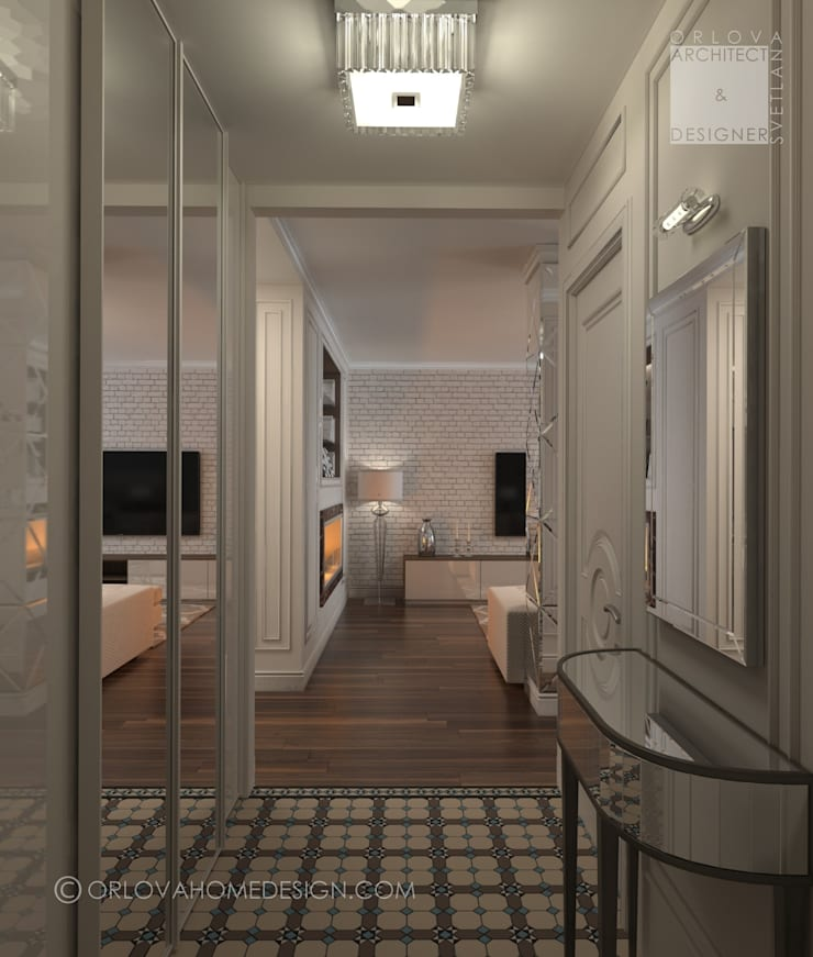 Квартира в Москве: Коридор и прихожая в . Автор – Orlova Home Design