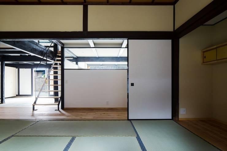 花しょうぶ通りの家: タクタク/クニヤス建築設計が手掛けた寝室です。