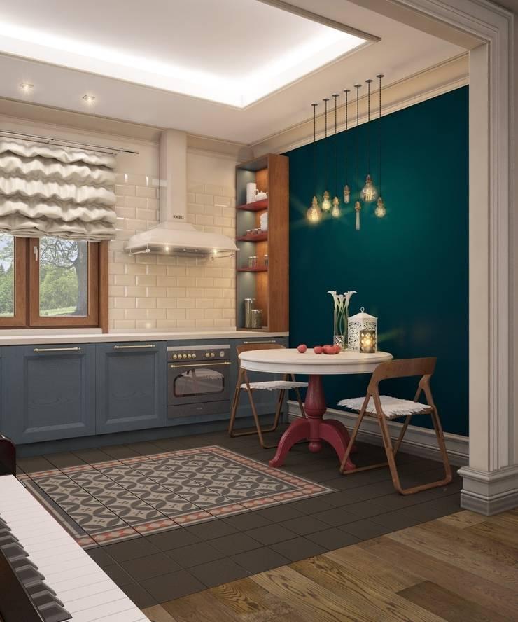 Современный кантри интерьер: Кухни в . Автор – E_interior