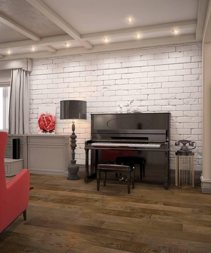 Современный кантри интерьер: Гостиная в . Автор – E_interior