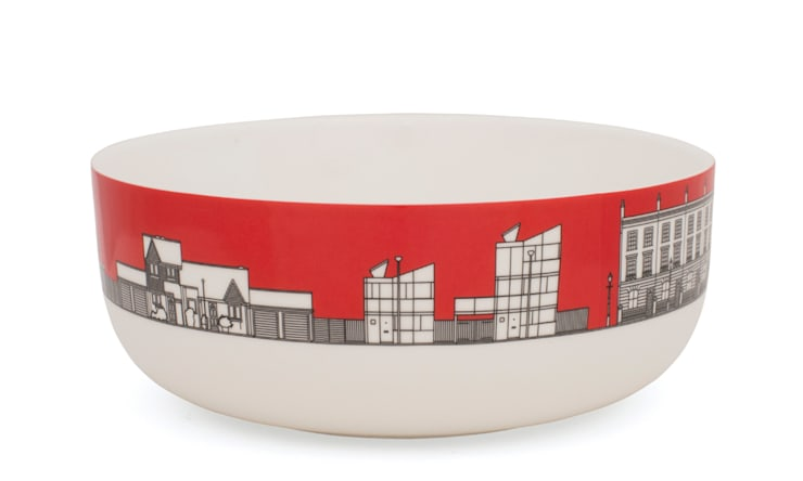 Eclectic Avenue cereal bowl - pillar box red: modern  by People Will Always Need Plates, Modern