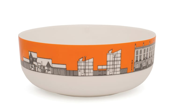 Eclectic Avenue cereal bowl - VW orange: modern  by People Will Always Need Plates, Modern